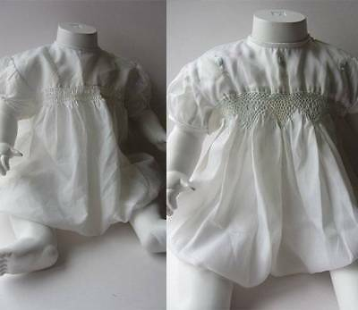 Baby romper suits boy girl vintage 60's embroidery smocking