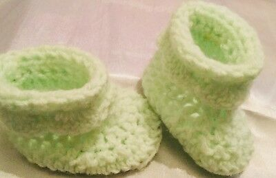 Lime Green Baby Booties Up Age To 6 Month