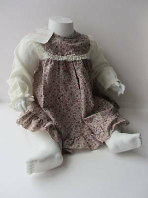 Vintage 70's baby dress baby boho hippie age 1 pink floral winter festival NWT's