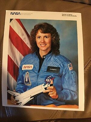 NASA Space Shuttle ~ Sharon Christa McAuliffe ~ 8x10 Photo ~ Teacher in Space