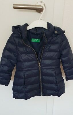 100% authentic 2972f f7ff7 UNITED COLORS OF Benetton Kinder Winterjacke pink Mädchen Gr. 86 / 90 cm