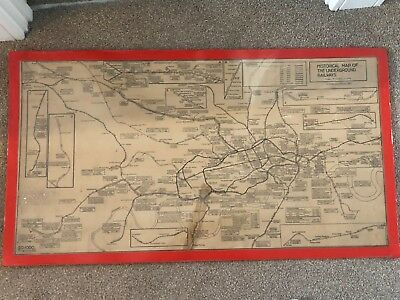 Vintage London Underground 1921 1926 A Map The Electric Railways Of London