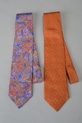 Gentleman's Brace of Dunhill Luxury Silk Ties. One with Label/Tag. Ref GNJ