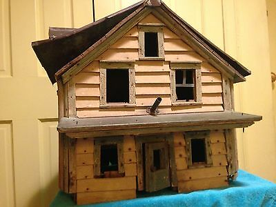 ANTIQUE AMERICAN FOLK ART Early 20th Century Model Cottage