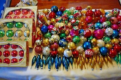 Over 150 Vintage Christmas Tree Ornaments Variety Shiny Brite And Others
