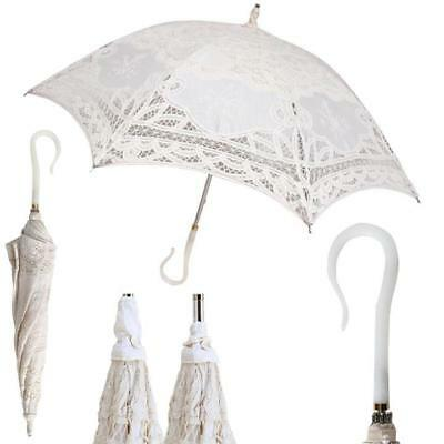Ladies Stunning Lace Embroidered FANCY Stick Fashion Umbrella Bride Wedding