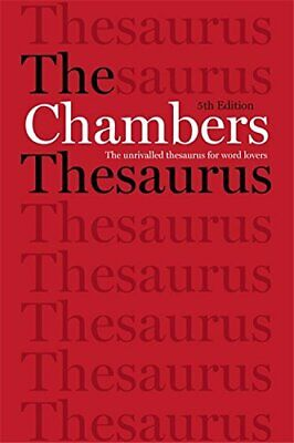 The Chambers Thesaurus, 5th Edition by Chambers Book The Cheap Fast Free Post