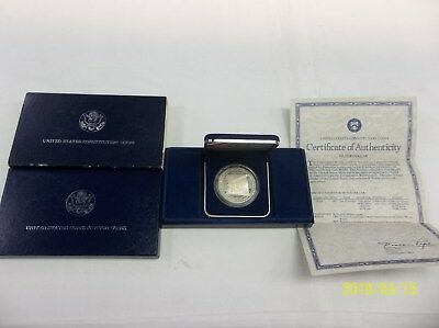 1787-1987 United States Mint Constitution 200th Anniversary Silver $1 Coin UNC