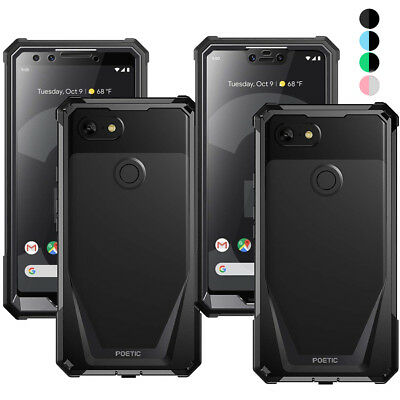 For Google Pixel 3 XL/Pixel 3 Poetic Guardian w/Built-in-Screen Protector Case
