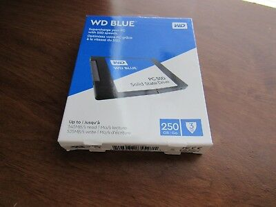 WD Blue PC SSD Solid Slate Drive 250GB- Supercharge your PC w/ SSD Speeds. New.