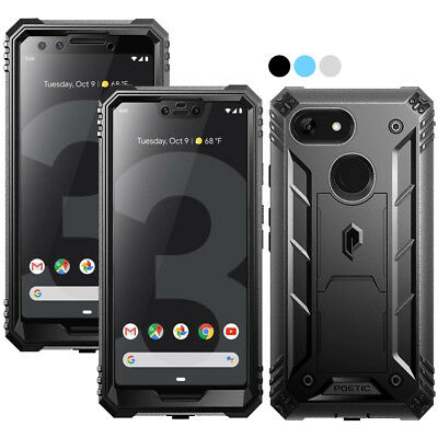 For Google Pixel 3 XL / Pixel 3 Poetic Revolution With Kick Stand Case 3 Color
