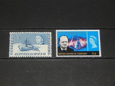 British AntarcticTerritory stamps - 2 mint hinged early stamps - nice pair !!