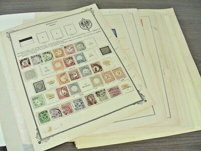 GERMANY, Excellent Assortment of Stamps hinged on old remainder pages