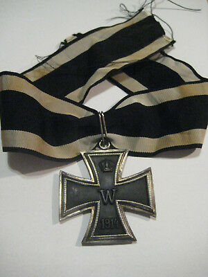 German big knight cross 1914-18 magnetic core marker 800 65 on clasp rare award
