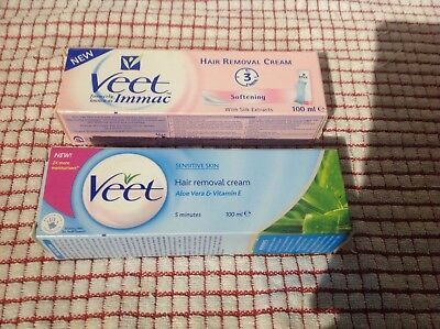 2 X 100Ml Veet Hair Removal Cream Boxed New Bargain Buy