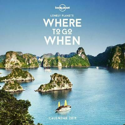 Where To Go When Calendar 2019 by Lonely Planet Free Shipping!