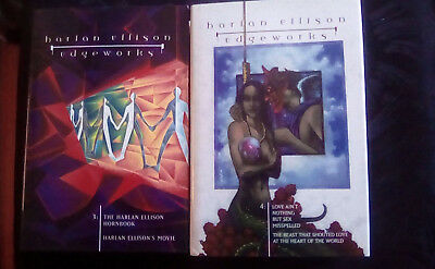 Lot 4 HC books Harlan Ellison Edgeworks volumes 1,2,3,4 Borealis Legends