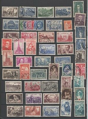 Lot De Timbres Anciens De France  Oblitere  Cote  190 €