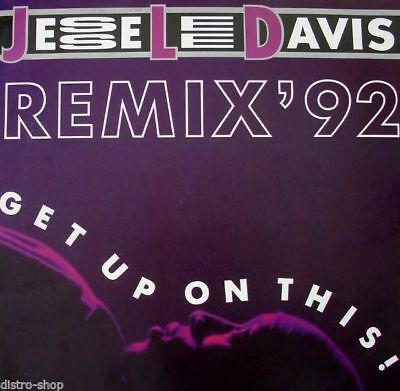 """7"""" JESSE LEE DAVIS Get Up On This Remix '92 / Sexual Trance Euro-Dance RCA 1991"""