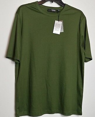 Murano men M crew neck tee shirt liquid luxury hunter green 100% cotton NWT