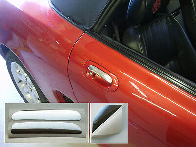 MGF MG TF Door Handle Covers - Chrome Effect Decals - just stick on!
