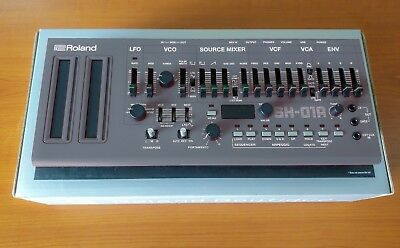 Roland SH-01A Grey Boutique Synthesizer WITH CABLES! PERFECT CONDITION!