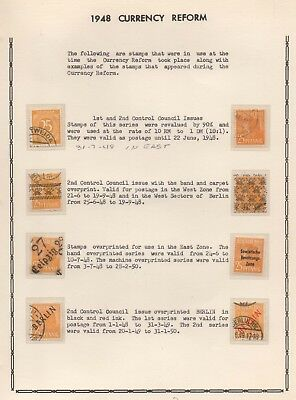 Postal History Currency Reform. Stamps of the Currency Reform period