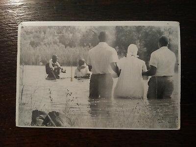 Vintage Postcard Photo of a Pond Baptism Dixie GA Brooks County African American