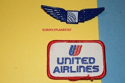 United Airlines Aviation Logo Ramp Hat Patch Blue Junior Pilot Kiddie Wings Lot