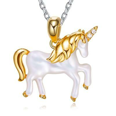 [Birthday Gifts For Wife Girlfriend Women Mom] Unicorn Animal Horse Necklace