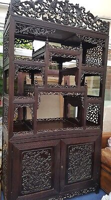 Stunning 19Th Century Very Unique Beautiful Chinese Display Cabinet