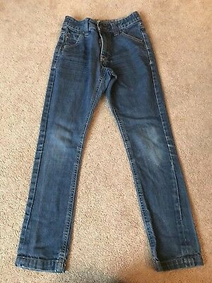 Boys George Straight Leg Denim Jeans Size 6-7 Years Adjustable Waist