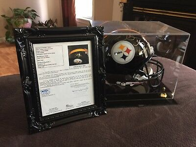 Jerome Bettis Full Sized Hall Of Fame Autographed Helmet With Case
