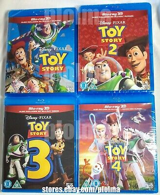 TOY STORY 3D (and 2D) TRILOGY Brand New Sealed BLU-RAY movies 1 2 3 Region-Free