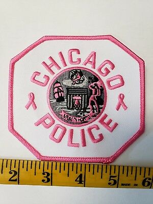 CPD Pink Breast Cancer Awareness Patch Chicago Police Department Cook County IL