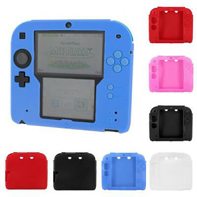 Silicone Rubber Gel Console Protective Skin Soft Case Cover Nintendo 2DS