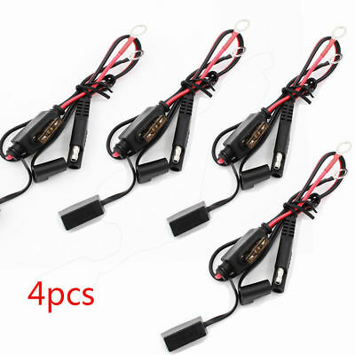4 Pcs Car Battery Charger/Tender Cables Quick Disconnect O-Ring Terminal Harness