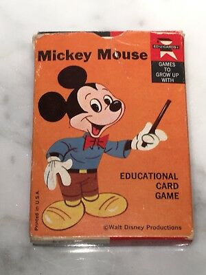 Vintage Mickey Mouse Edu-Card Game, 35 Cards