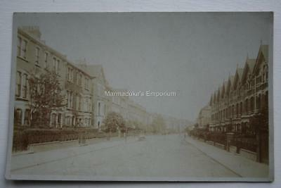 London - Stroud Green, Florence Road - Lovely Early Original Real Photo Postcard