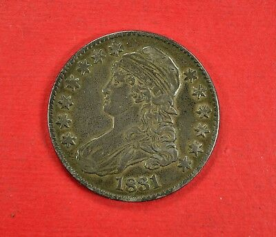 1831 Capped Bust Silver Half Dollar Nice High Grade XF++ Almost AU Lettered Edge