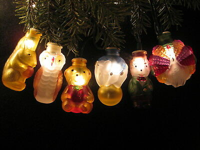 Set of 6 Old World Christmas Light Covers.  First Ones Issued---1983!  Mint!