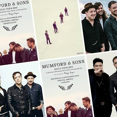 MUMFORD & SONS Delta 2018/2019 World UK Tour PHOTO Print POSTER Art Posters LP