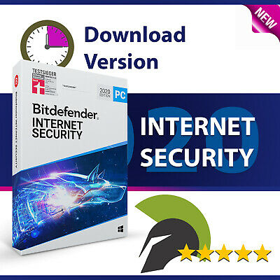 Bitdefender Internet Security 2019 - 3 PC 1 Jahr (365 Tage)