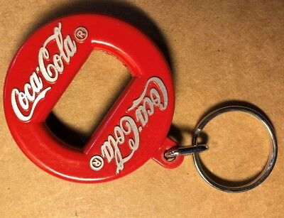 Coca-Cola 1960s Red Metal Bottle Opener- Made in Canada