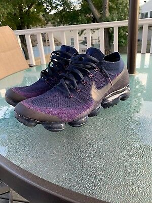 9f50ae11fb5 NikeLab Air VaporMax Flyknit College Navy Dark Grey Night Purple Size 14  RARE