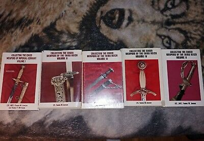 Edged Weapons Of The Third Reich Books 1 thru 5 First editions Swords Daggers