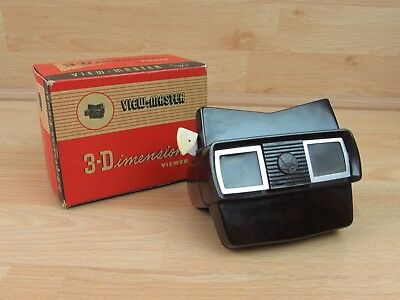 View-Master Model E Bakelite Viewer - 1955-1961 Boxed White Lever Vintage Opical