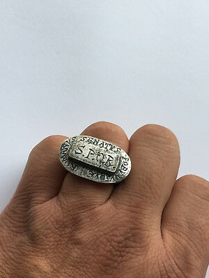 Ancient Antique-ROMAN SENATORIAL SILVER-RING-S.P.Q.R.