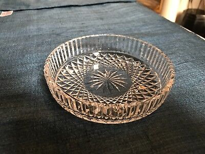 SUPERB Waterford GIFTWARE ALANA CUT CRYSTAL BOTTLE COASTER Holder MINT CONDITION