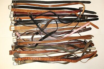 Lot x 35 Leather Belts Collection Resale Wholesale Used Unsorted Premium bRkR